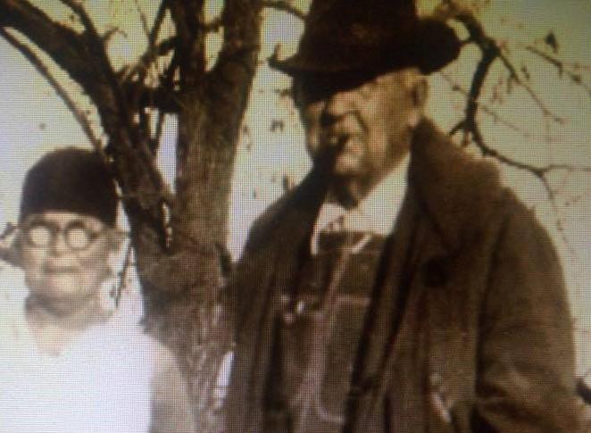 Grandpa Zeno Merritt Cox & Grandma EmmaJane Beck-Cox & my brother Cork